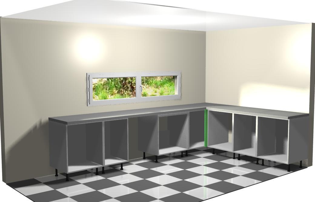 montando muebles bajos de la derecha a la cocina