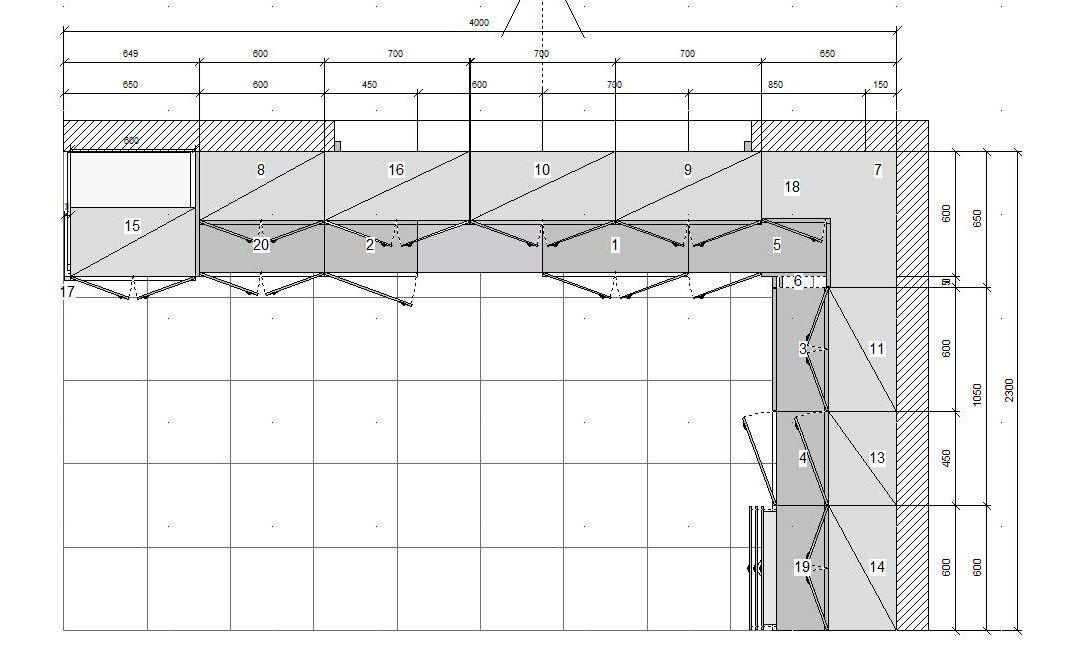Plano completo de muebles de la cocina for Planos de cocinas autocad